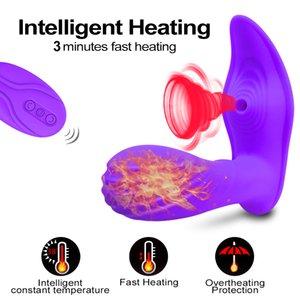 Sucking Heating Product Stimulator Sex Remote Adult Dildo Couples For Clitoris Spot Clit Suker G Vibrator Control Toys Sex Women Q1119j Dhuq