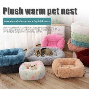 Dog Bed Square Calming Warming Plush Cuddler Extra Large Dog Bed Furniture Cushion VJ-Drop