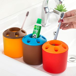 Multifuncional Standing Toothbrush Titular Casal Criativo Toothbrush Holder Toothpote de dentes Mouthwash Desktop Pen Holder Rack DHD3391