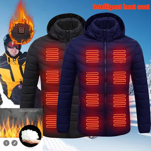 Jodimitty Mens Women Heated Outdoor Parka Coat USB Electric Battery Heating Hooded Jackets Warm Winter Thermal Jacket Dropship 201118