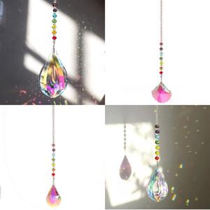 Color cristal calabaza colgantes cadena hecha a mano patrón de vieira diamantes de imitación Decoración de la joyería Cortina colgante DIY Venta caliente 8SN J2