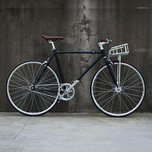 Fixie Bike Bike 700C Fisso Gear Track Bicycle Single Speed Retro Road 700C Telaio vintage 48 cm 52cm1