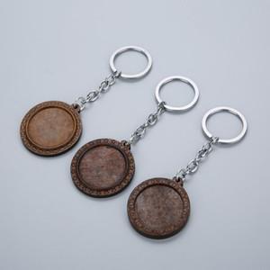 Louleur Brown Wood Cabochon Base 25 мм 30 мм Diable Blank деревянные ключевые кольца подвесные поддоны для DIY ключевой цепочки ювелирных изделий Accessorie Qylshb