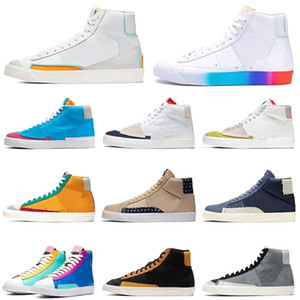 Popular! Have A Good Game Blazer mid 77 vintage League of legends fluorescence City Pride Cool Grey Suede mens womens sports shoes sneakers