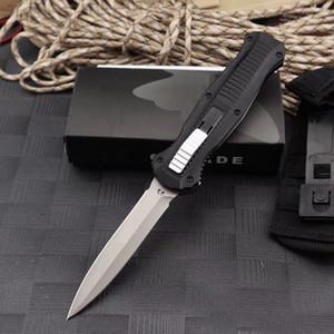 새로운 벤치 메이드 BM 3300 더블 액션 폴딩 자동 칼 D2 블레이드 알루미늄 핸들 야외 포켓 자동 전술 생존 나이프 BM 3310 C81
