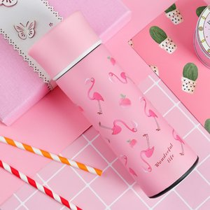 Eco Friendly Insulated Cup Portable Stainless Steel Water Bottle Flamingo Fresh Style Coffee Mug For Best Gifts Many Colors 31jx ZZ