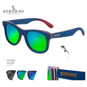2020 BOBOBIRD Sunglasses Wooden Polarized Male Women Eyewears lunette de soleil In Gift Box gafas de sol mujer