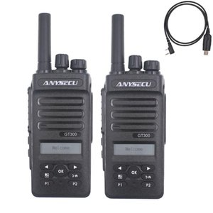 2 Шт. AnySecu 4G Сетевое радио GT300 с GPS Работа с Real-Plce WCDMA GSM Walkie Talkie GT-300 + USB Cookble