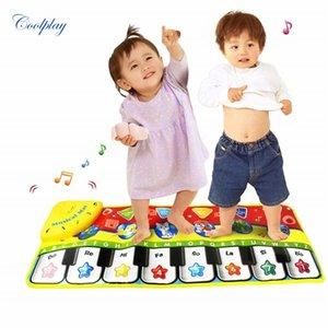 Coolplay 70x27 cm Bebek Piyano Paspaslar Müzik Halılar Yenidoğan Çocuk Çocuk Dokunmatik Oyun Oyunu Müzikal Halı Mat Eğitici Oyuncaklar Çocuklar için Q1121