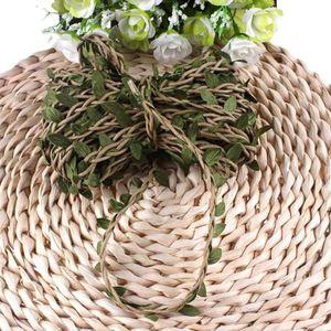 Hand Made Rattan Wicker Rattan Flower Green Vine Pot Planter Hanging For Garden DIY Decoration