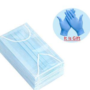 Luvas de buy descartáveis luvas livres 3 camadas à prova de poeira Facial capa protetora máscaras definir anti-poeira maskhqje