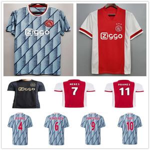 NCAA 20 21 FC Ajax Soccer Jersey AAREZ TADIC VAN DE BEEK NERES TAGLIAFICO PROMES NOURI HUNTELAAR Custom 2020 Home Away Third Football Shir