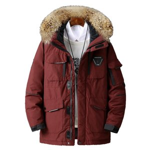 Large Size Loose Coat Men Winter Jackets Fashion Thick Warm Parkas Men Hooded Duck Down Jacket Male Windproof Overcoat Coats 3XL Y1120