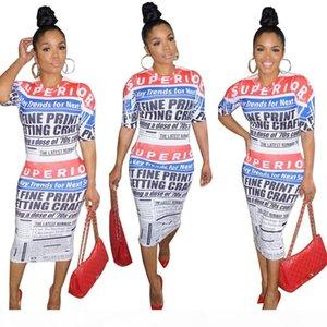 Summer pencil Dress Women 2019 Casual Short sleeve Letter Print Bodycon Dress Female Sexy Slim Club Evening Party Dresses