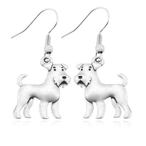 Vintage Schnauzer -Airedale Earring Dog Charms Earrings For Women Pet Gift Brincos Boho Earings fashion Jewelry Pendientes Mujer