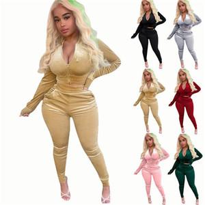 2020 new womens fashion designer Yoga sportswear sportswear sports suit fitness underwear tights hollow two piece set outdoor suit fitness