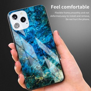 NEW Fashion Marble Tempered Glass Back Shell for iphone 11 pro max Shockproof Shield Mobile Phone Protection for iphone 6 7 8 XS MAX XR Case