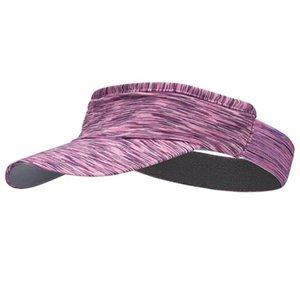 Unisex Outdoor Correr Visor Cap Multicolor Headband vacío Top Sports Sun Hat Lx9e