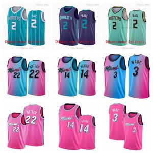 2 Lamelo Ball Charlottemiami 3 Wade Jimmy 22 Butler Basketbol Jersey Mnes Tyler 14 Herro Kendrick 25 Nunn City Swingman Basketball Jersey