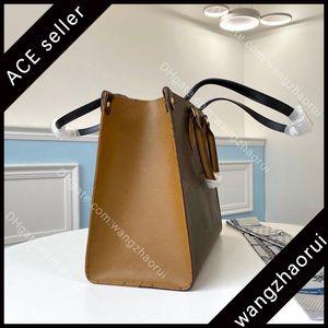 Qualidade B069 5a Moda Desig Lady Carrier Bags Mm sacos de couro Compras de couro topo Caixa de mulheres Bolsa Bolsa OnThego Bolsa com Tote Dkgeo