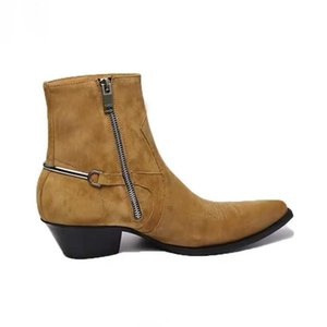 Genunie leather fashion ankle boots factory outlet persional high quality design personality women and men's shoes