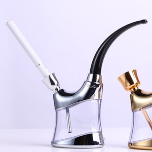 Water Pipe Double Cycle Filtration Water Pipe Water Pipe Zb-503 Smoking Set With Light Two Color Random Delivery