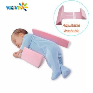 Anti Roll Pillow Newborn Baby Pillow Infant Adjustable Sleep Positioner Pillow Anti Flat Head Cotton Baby Positioning Pad 201225