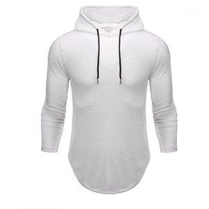 Soild Color Herren Sweatshirts Mit Kapuze Langarm Slim Hoodies Neue Designer Sport Herren Kleidung 21FW Mode