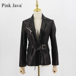 Java Pink Java QC20011 Abrigo de mujeres Real Ovejas Chaqueta de cuero de cuero genuino Jackets 1