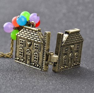 2021 Hot Film and television surrounding The Adventures of Flying House Colorful Beads Children's Necklace Personality Wild zj-1497