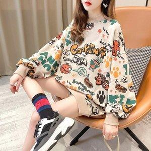 Women's Hoodies & Sweatshirts Autumn Pullover Women's Cartoon Graffiti Hoodie Long Sleeve School Korean Street Style Super Dalian1