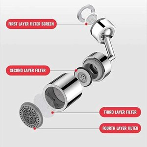 720° Universal Rotary Filter Splash-Proof Pressurized Faucet Water Saver Spout Shower Head Practical Faucet Accessories DHL Free