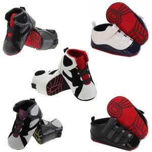 Recém-nascidos Lona Sneaker Algodão Conforto Respirável Primeiro Walkers CRIB Sapato Anti-deslizamento Unisex Toddler Bebê Menino Menino Menino Sapatos 18m