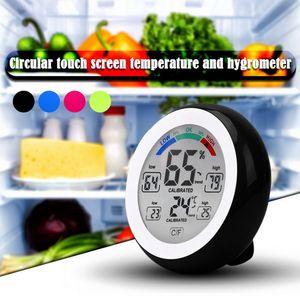 Display digitale LCD Indoor Thermometer Igrometro tondo wireless Temperatura elettronica Temperatura Meter Meteo Station Tester