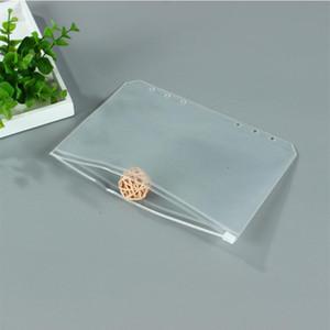 2020 Notebook all'ingrosso A6 sacchetto trasparente di immagazzinaggio fogli staccabili plastica PVC Zipper singolo inserto Business Card Bill File Bag