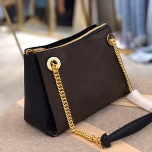 43776 Surène BB Borsa Ultima catena leggera Design Embellito Design Gold Color Hardware Ladies Coated Borsa a tracolla in pelle a grana