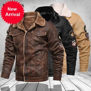 Mens Jacken Motorrad Stehkragen Reißverschluss Taschen Männliche Vintage PU-Mäntel Biker Faux Leder Mode Oberbekleidung