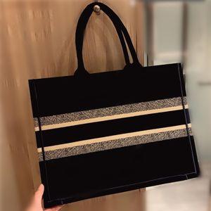 Luxury 5a hot sale classic brand shopping bag embroidered canvas large capacity handbag high-quality handbag female shoulder bag Totes bag