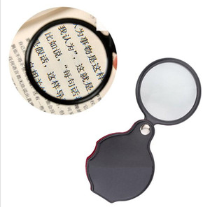 Portable Mini Black 50mm 10x Hand-Hold Reading Magnifying Magnifier Lens Glass Foldable Jewelry Loop Jewelry Loupes