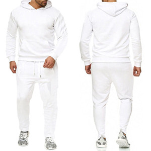 Mens Tracksuits Letter Print fleece Sweatsuits fashion Hommes Jogger Fit Suits Pollover Hooded Hoodies casual Long Pants Outfits ZRTZ2JT