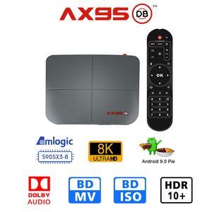 AX95 DB 4GB 32GB 64GB 128GB TV صندوق الروبوت 9.0 AMLogic نوع S905X3 دعم دولبي المزدوج واي فاي 8K ميديا بلاير
