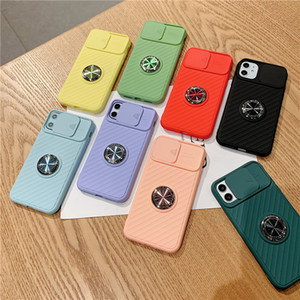 Shockproof Push Camera Protector Phone Case Soft TPU Silicone Back Cover For iPhone 12 Pro Max For All iPhone