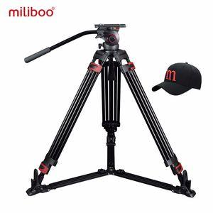 miliboo MTT609A Профессиональный Heavy Duty Гидравлический шаровой головкой камеры штатив для видеокамеры / DSLR Стенд Видео штатив Нагрузка 15 кг Макс Y1117