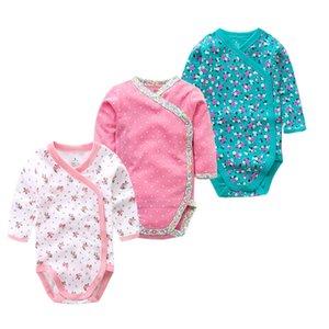 Times 'Favori 3PCS / Lot 100% coton Body Body Jumpsuit pour nourrisson Bébé à manches longues Baby garçons Vêtements Nouveau-né Baby Vêtements 201216