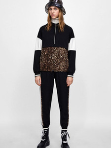 Spring For Women Leopard Hooded Sweatshirt Animal Print Jakcket Black 2020 Long Sleeve Zipper Harajuku Female Sports Casual Coat