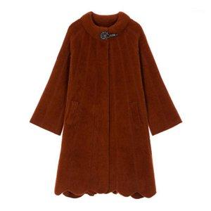 Wywan Invierno Imation Mink Fleece Western Gold Mink Fleece Chaqueta Fashion Damas Woolen Coat 1