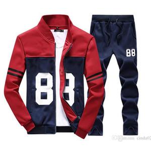 Venta al por mayor Hombre Chaqueta Pantalones Jogging Jogger Sets Turtleneck Sports Sportsuits Sweat Trajes de Sweat Sportswear Envío gratis
