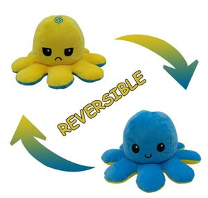 Baby Plush 10cm Doll Octopus Octopus Plush Toy Doll Cute Children's Toy Ped 23 Ped Color Double-sided Gift Expression jllhM book2005