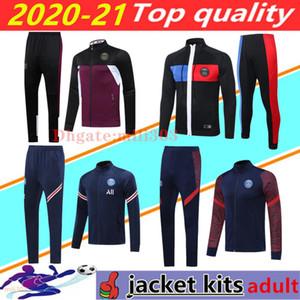 2020 2021 Paris psg jaqueta de futebol agasalho 20 21 psg MBAPPE NEYMAR JR manga longa com zíper casacos Paris Maillot de survêtement futebol Formação terno