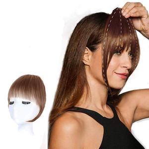 Clip en flequillo 100% HUMANOS HUMANOS Extensiones de flequillo para mujeres Clip en el cabello real agradable natural plana plana flequillo.